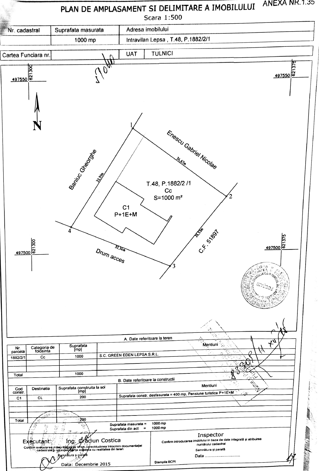 location plan guest house for sale