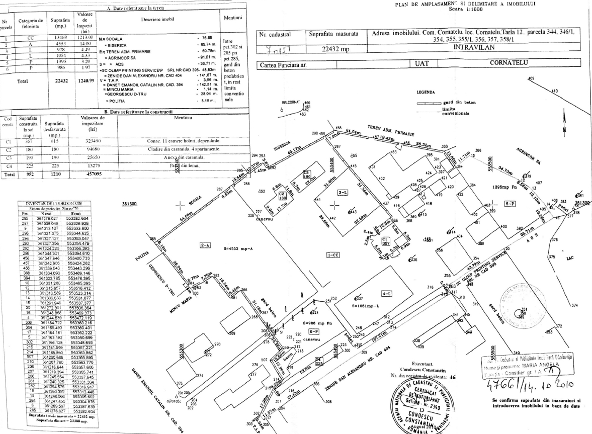 Land mansion cadastral plans